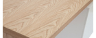 Bureau design en chêne clair et blanc CALIX