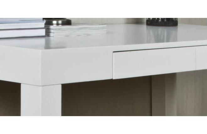 Bureau design laqu blanc 120cm abby miliboo for Miroir des modes 427