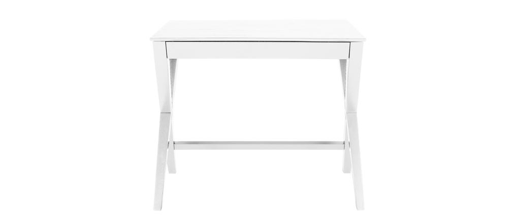 bureau design laqu blanc mat 90cm maddy miliboo. Black Bedroom Furniture Sets. Home Design Ideas