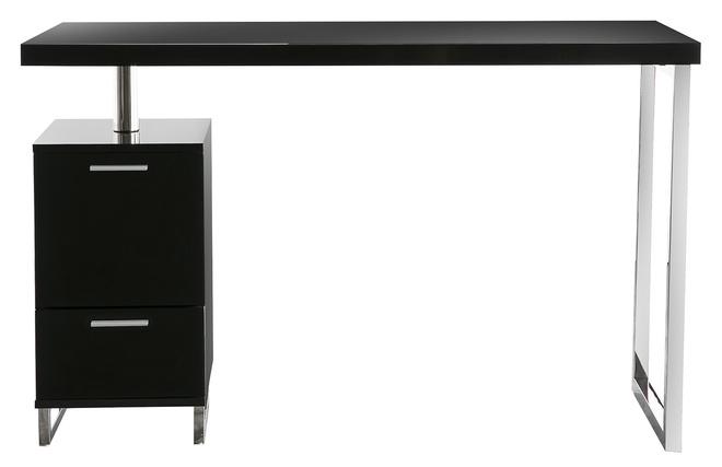 Bureau design noir bureau bureau design noir laque amovible t max
