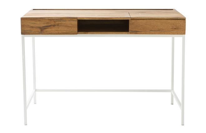 Bureau design manguier et métal blanc boho miliboo