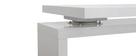 Bureau design modulable avec rangement 2 tiroirs amovible blanc laqué MAX