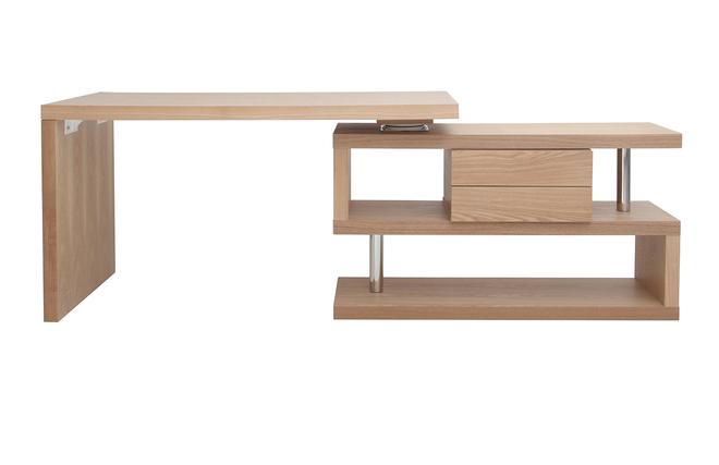 Bureau design modulable avec rangement tiroirs amovible bois max