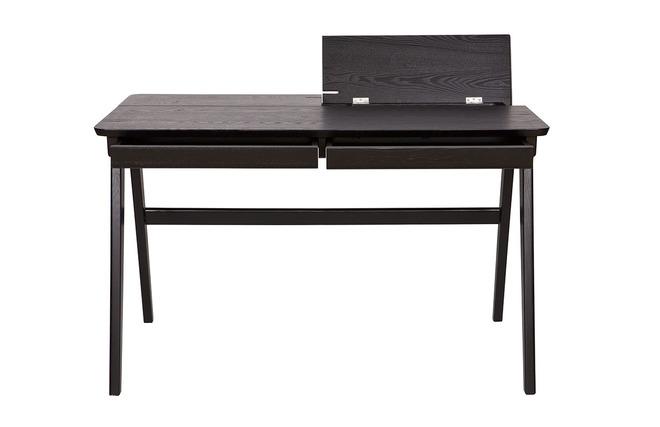 Bureau design noir 2 tiroirs femos miliboo