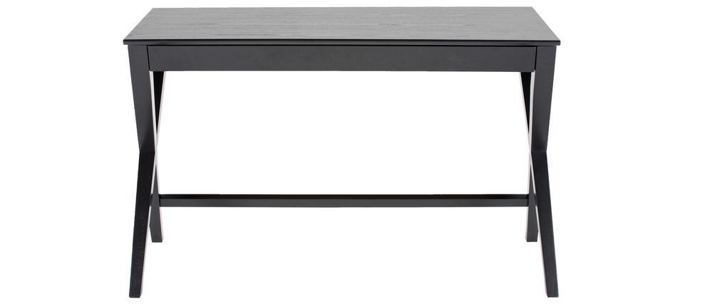 Bureau design noir avec tiroir L120 cm VICE