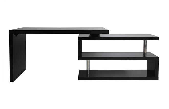 Bureau design noir laqué amovible max miliboo