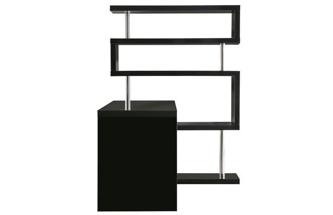 Bureau Design Bois Amovible Max : Bureau design noir laqu? amovible T-MAX – Miliboo