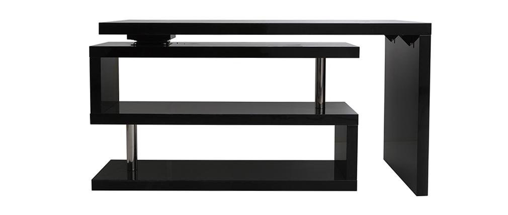 Bureau design noir laqué modulable MAX