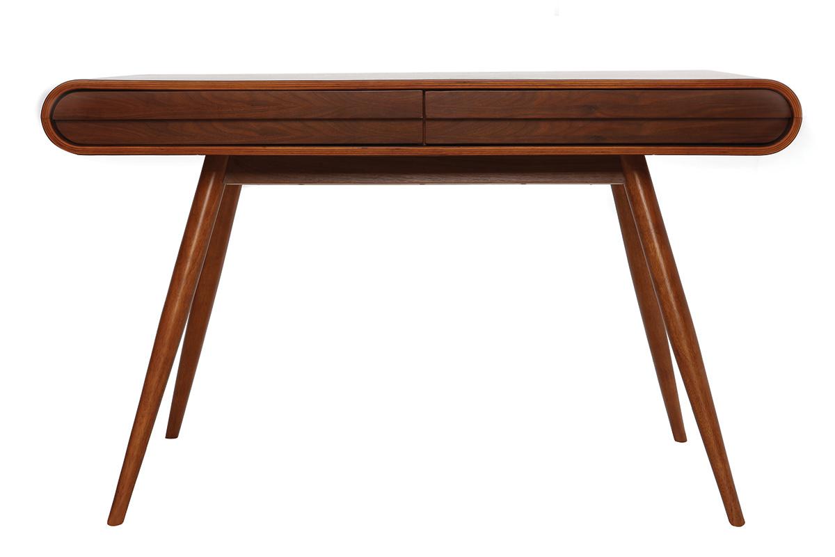 bureau design noyer bjorg miliboo. Black Bedroom Furniture Sets. Home Design Ideas