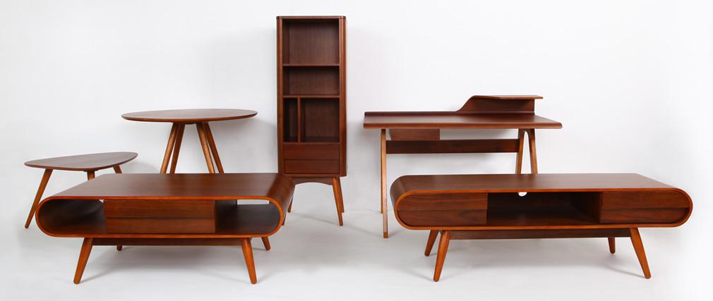 Bureau design noyer HARALD
