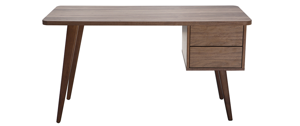 Bureau design noyer L140 FIFTIES