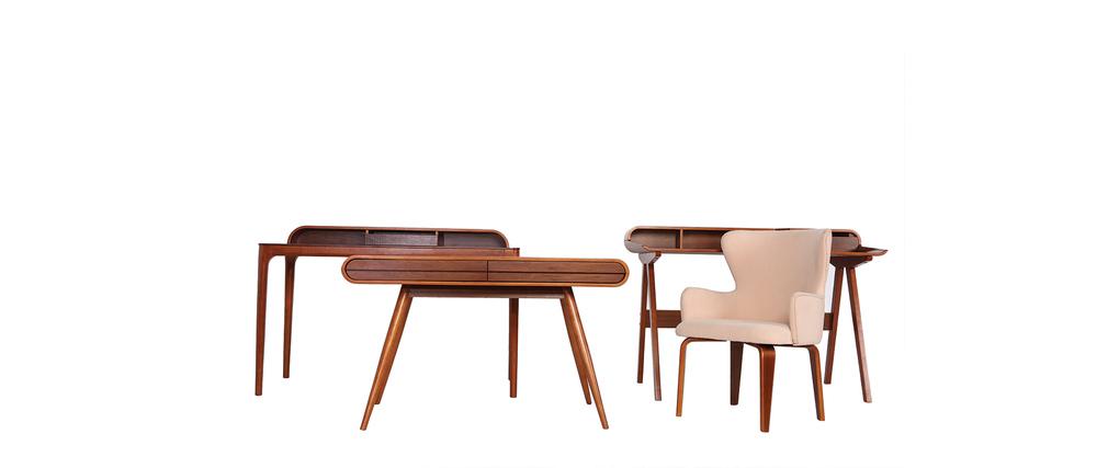 Bureau design noyer VIKKO