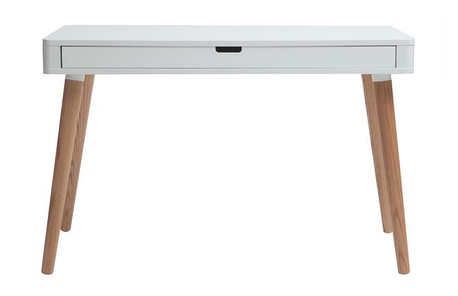 bureau scandinave blanc et bois. Black Bedroom Furniture Sets. Home Design Ideas