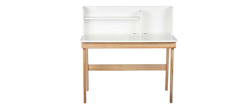 Bureau enfant blanc et bois 105 cm KUNG