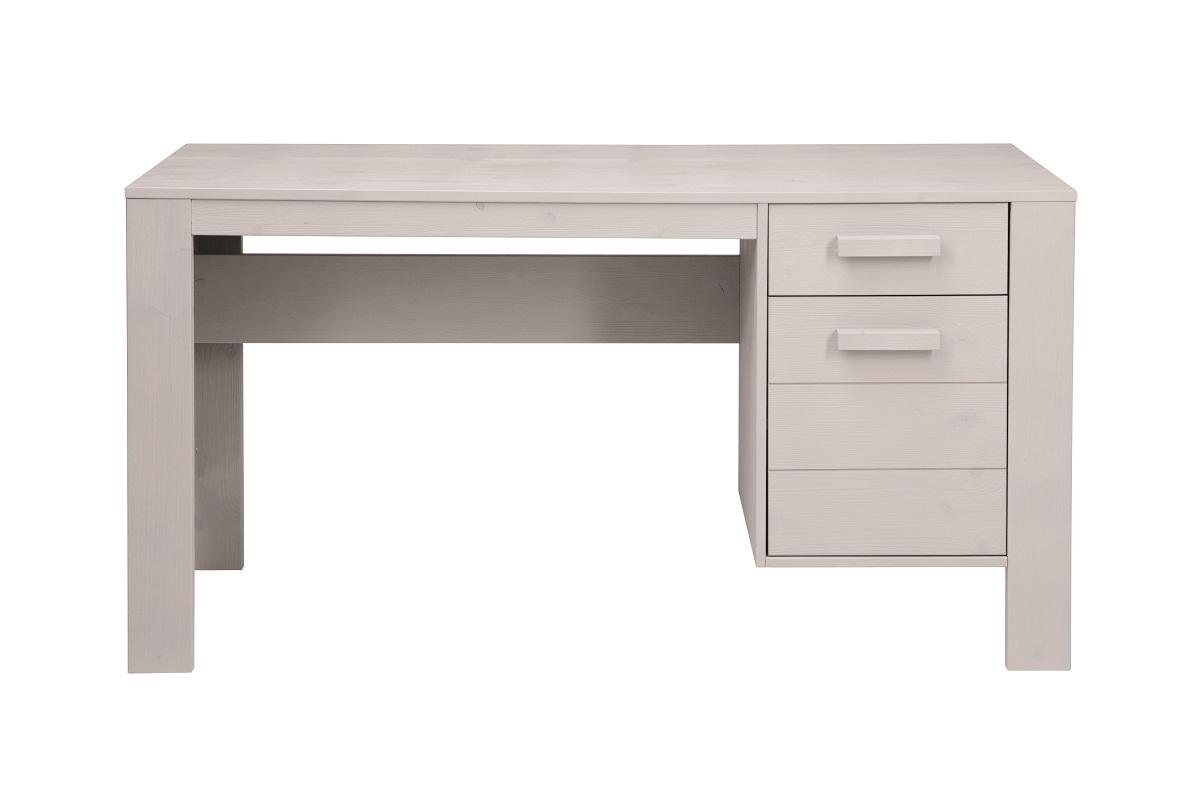 bureau enfant en pin gris clair bross corti miliboo. Black Bedroom Furniture Sets. Home Design Ideas