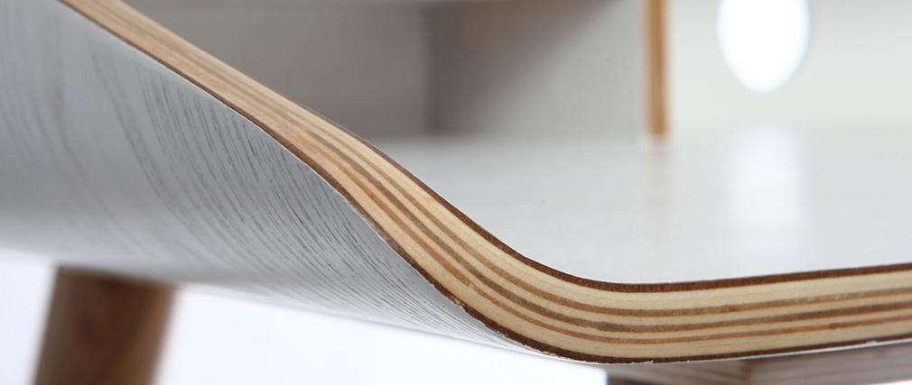 Bureau Bois Blanc : Bureau finition bois teint? blanc NORDECO, aspect technique :