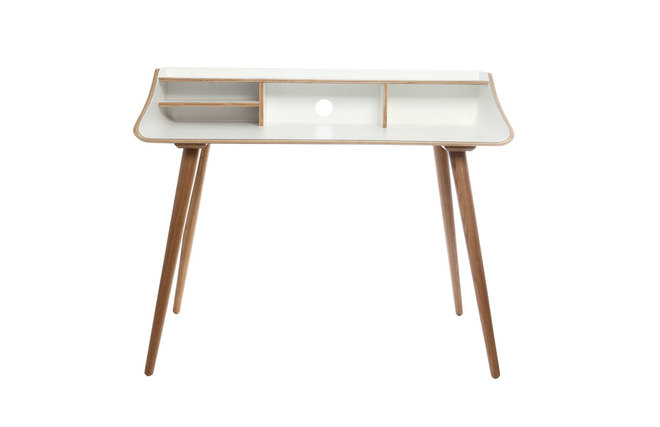 bureau finition bois teint blanc nordeco miliboo. Black Bedroom Furniture Sets. Home Design Ideas