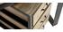 Bureau industriel avec caisson mobile en manguier massif L156 cm INDUSTRIA