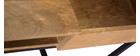 Bureau industriel manguier massif et métal YPSTER