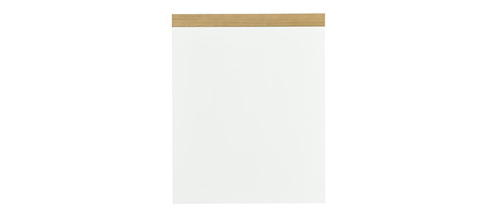 Bureau scandinave avec tiroir et caisson fermé blancs RACKEL