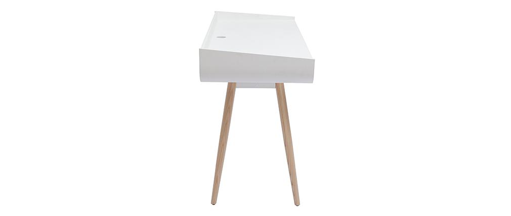 Bureau scandinave blanc et bois clair HALLEN