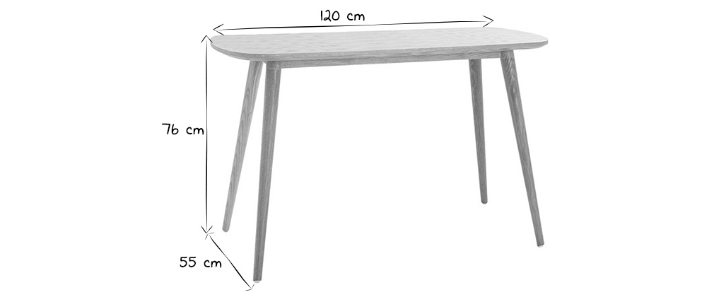 Bureau scandinave bois L120 cm SWIFT