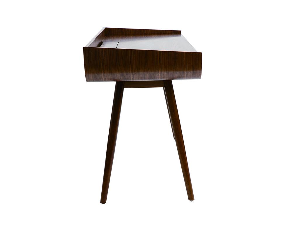 Bureau vintage bois noyer HALLEN
