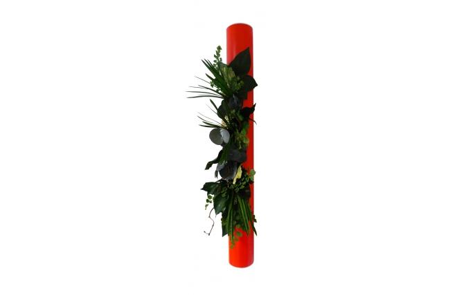 Cadre v g tal design rouge toundra miliboo - Cadre photo rouge design ...