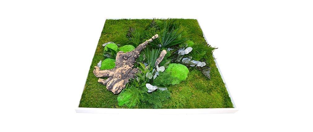 Cadre végétal en bois blanc AMAZONIA Carré XL - Miliboo