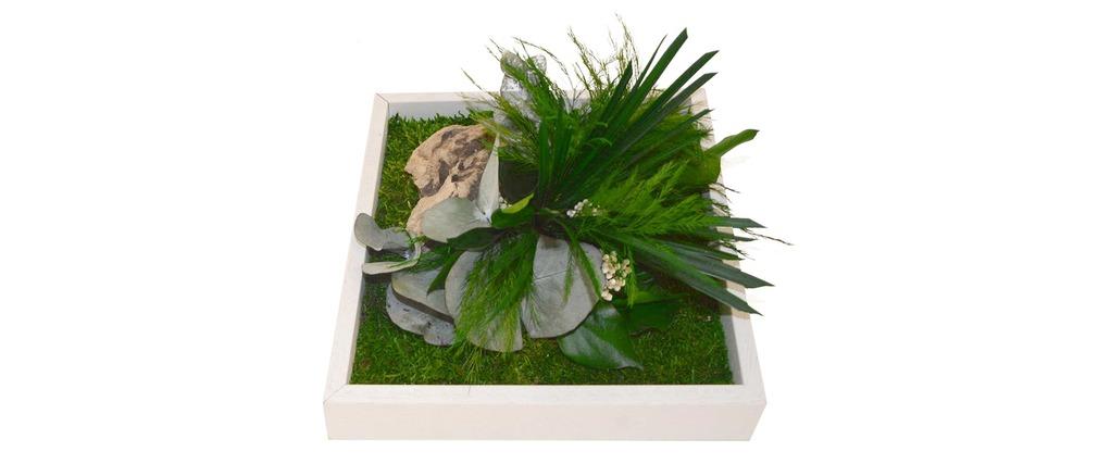 Cadre végétal en bois blanc AMAZONIA Mono