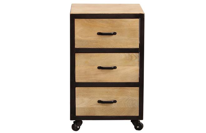 caisson de bureau industriel. Black Bedroom Furniture Sets. Home Design Ideas