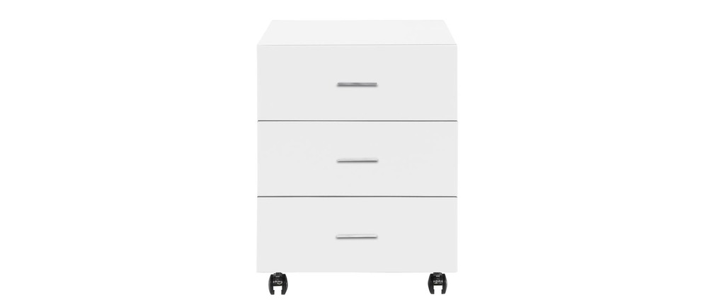 caisson de bureau blanc laqu samy miliboo. Black Bedroom Furniture Sets. Home Design Ideas
