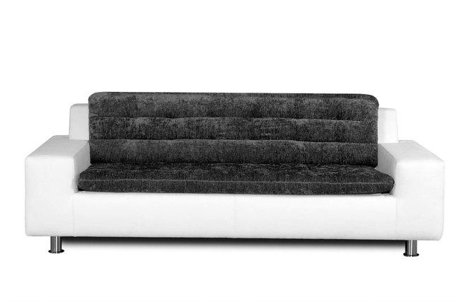canap 2 3 places design gris et blanc kinley miliboo. Black Bedroom Furniture Sets. Home Design Ideas