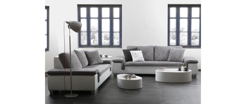 canap 2 3 places gris et blanc scala miliboo. Black Bedroom Furniture Sets. Home Design Ideas