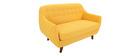 Canapé 2 places design déhoussable jaune YNOK