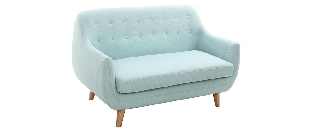 Canapé 2 places design déhoussable menthe à l