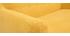 Canapé 2 places scandinave déhoussable tissu effet velours jaune moutarde YNOK