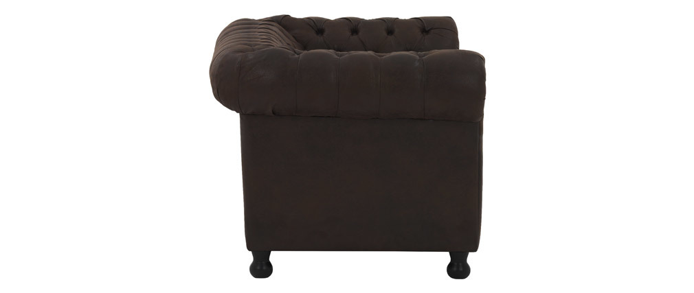 Canapé 2 places vintage marron CHESTERFIELD