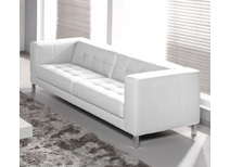 Canapé 3-4 places design blanc LINCOLN