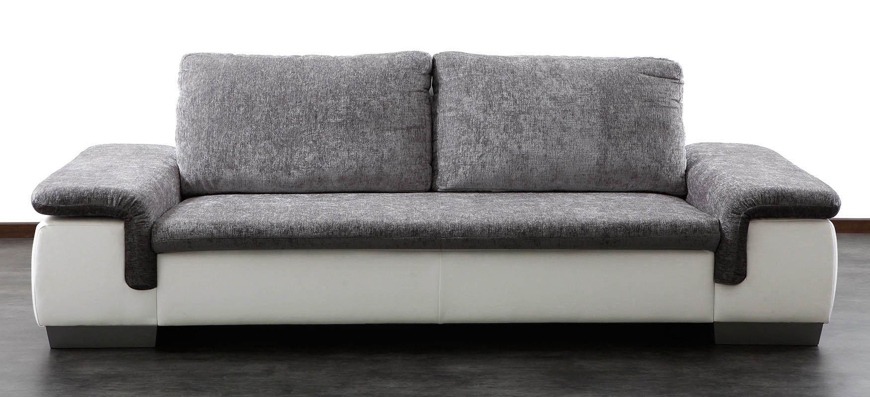 canap 3 4 places gris et blanc scala miliboo. Black Bedroom Furniture Sets. Home Design Ideas