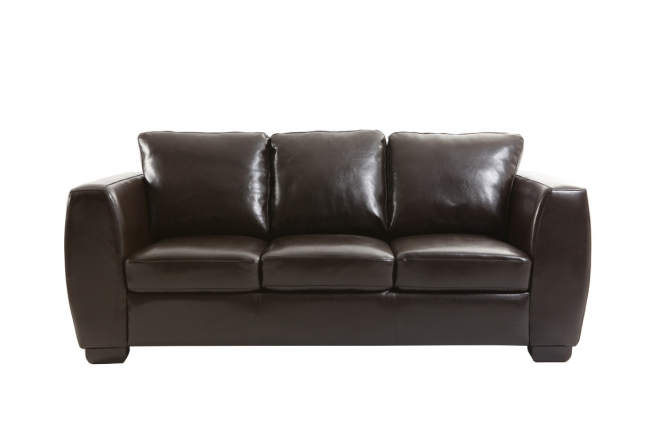 Canap 3 places cuir marron new chicago miliboo - Canape cuir 3 places ...