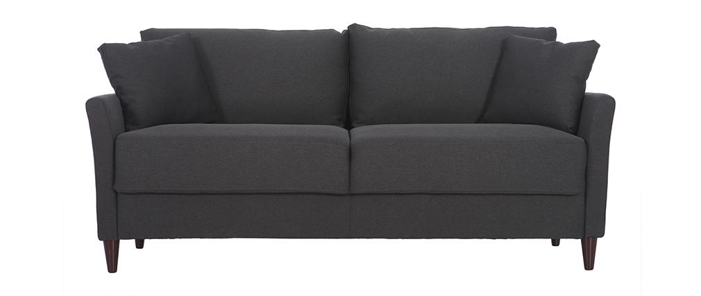 Canapé 3 places design en tissu gris foncé avec rangement MEDLEY