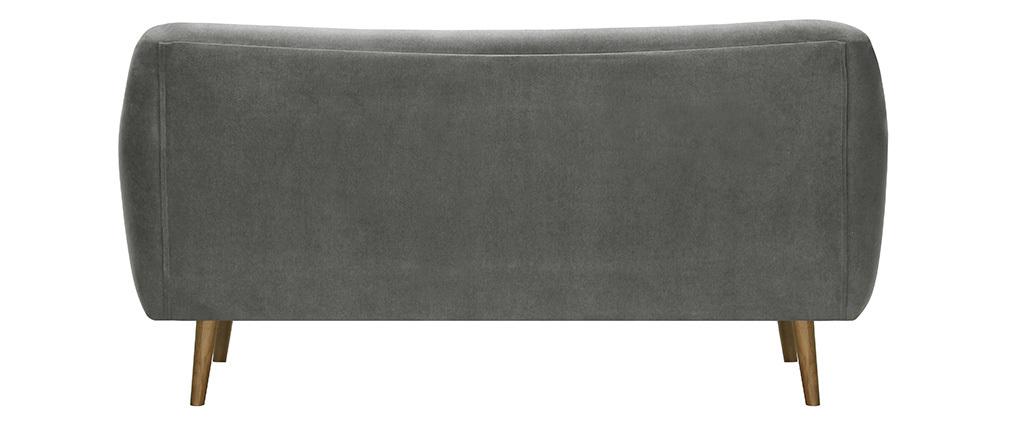 Canapé 3 places design tissu gris ABSOLUTE
