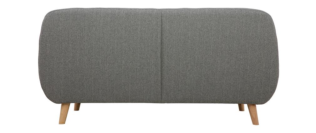 Canapé 3 places scandinave déhoussable gris clair et bois YNOK