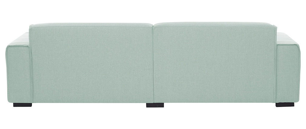 Canapé 4 places design tissu vert d