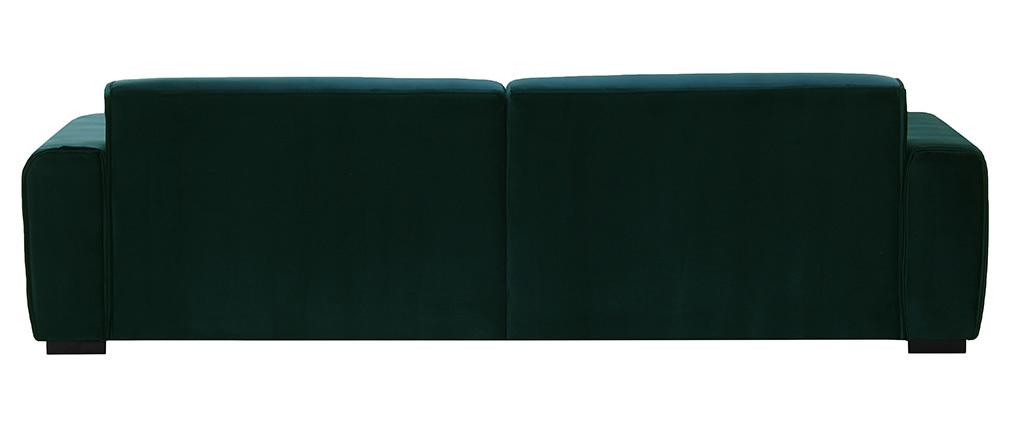 Canapé 4 places design velours vert opale MELLOW
