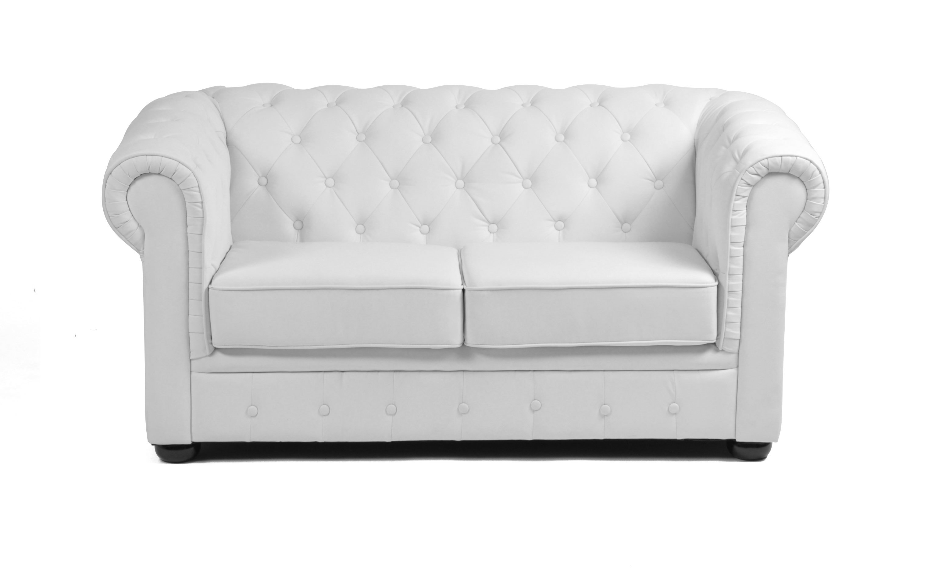 canap chesterfield blanc 2 places design miliboo. Black Bedroom Furniture Sets. Home Design Ideas