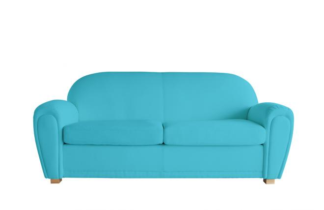 canap club bleu turquoise 3 places miliboo. Black Bedroom Furniture Sets. Home Design Ideas