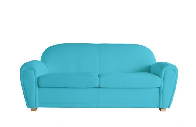 canap club bleu turquoise 3 places miliboo. Black Bedroom Furniture Sets. Home Design Ideas