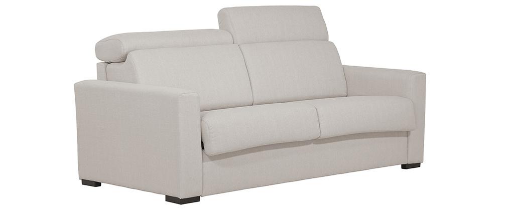 Canapé convertible avec têtières ajustables beige NORO